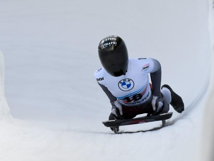Īglsā beidzies Eiropas junioru čempionāts skeletonā, kas vienlaikus arī Eiropas kausa posms